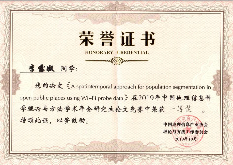 李露凝中国GIS年会奖